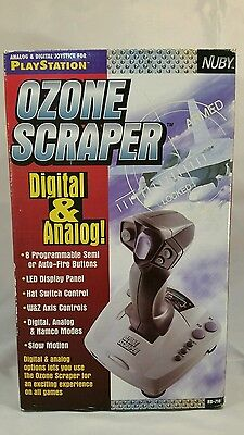 Ozone Scraper Playstation Nuby Digital Analog Video Game Joystick NB-718 New