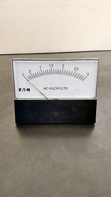 Eaton Crompton 364-02v-a-pz-ua-c6-sm Ac Kilovolts Meter Gauge Bin3