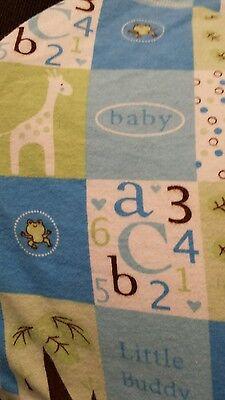 Blue  Giraffe Nursing pillow cover,  fits boppy pillow