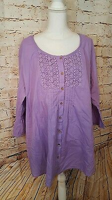 Woman Within Blouse Purple Womens 1X