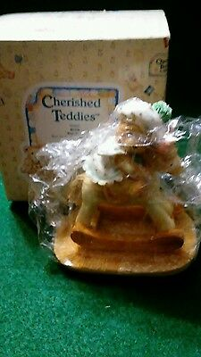 "NEW Cherished Teddies Style 950637 Beth ""Bear Hugs"" I3 1991 P. Hillman COA"