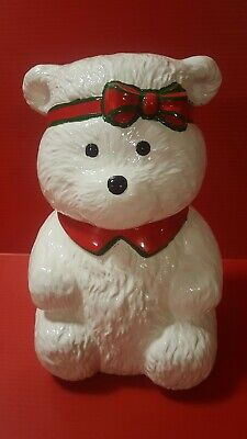 vintage Christmas Santa bear ceramic cookie jar 1987 Dayton Hudson original box