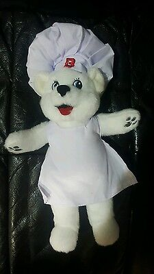 Bimbo Bakery Bread Polar Bear Stuffed Animal Plush Chef Mascot Collectible New