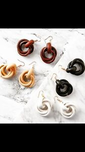 Wooden Knot Hoop Earrings Statement Other Bloggers Stories Mango