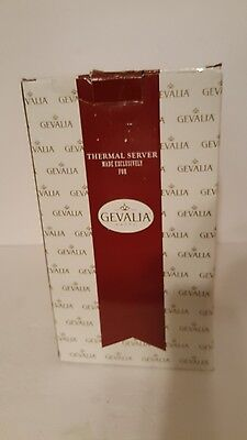 """Gevalia New Stainless Steel Lined Coffee Pitcher Thermos. 11"""" Tall. Good Cond."""