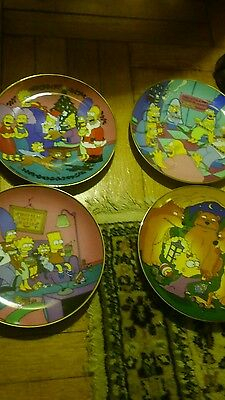 The Simpsons limited edition fine porcelain plates set  of. 4