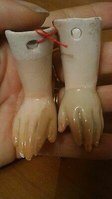 Hands in Ceramic Doll Antique