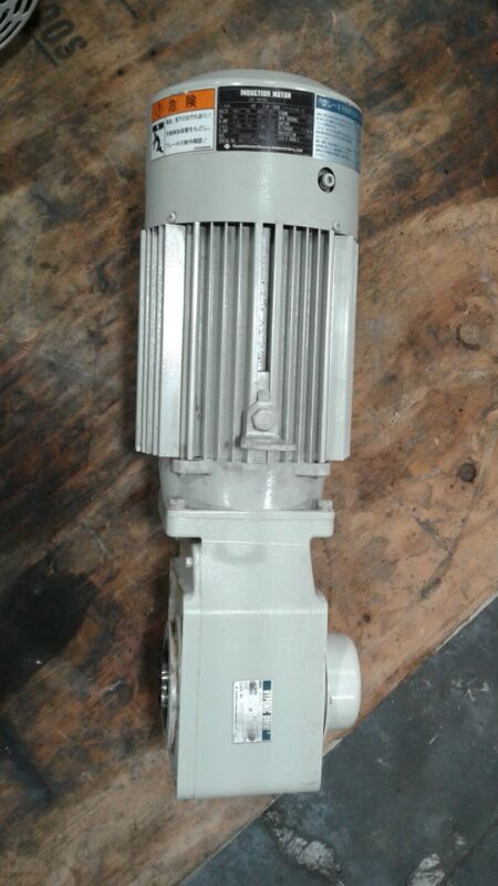 Sumitomo Motor TC-FV/FB-1B 1/2 HP 3 PH w Hypoxic Drive Gearbox 15:1 Ratio #125KW