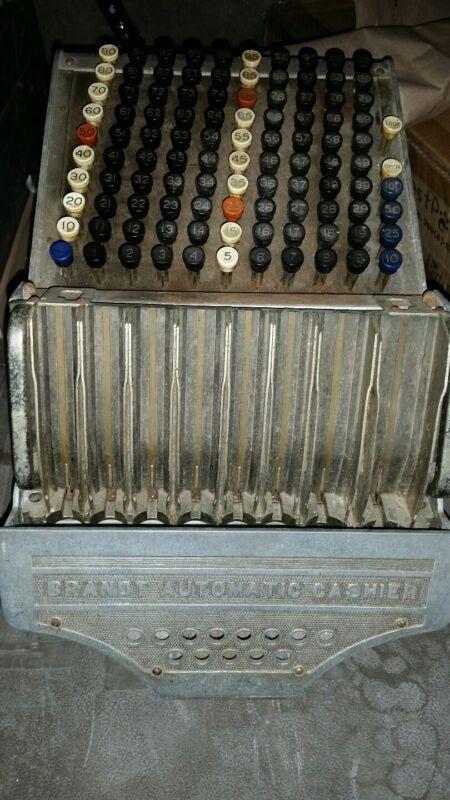 RARE Antique Brandt Automatic Cashier With Art Deco Griffin Panels 1920s Era