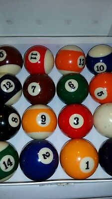 SPORTCRAFT BILLARD BALL SET 2-1/4 DIAMETER POOL BALL SET Professional Style ()