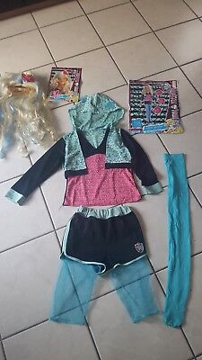 Lagoona Blue Monster High Kostüm Gr. 152  mit Perücke (Monster High Perücke)