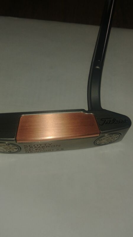 for Scotty Cameron Newport 2 Putters, Custom Natural Solid Copper Face Plate Kit