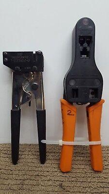 Amp Mod Plug Hand Tool 8 Position Die Set 1-231652-0 Crimper