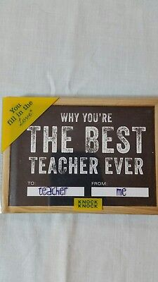 KNOCK KNOCK  WHY YOU'RE THE BEST TEACHER EVER  SMALL FILL IN LOVE BOOK (The Best Love Ever)