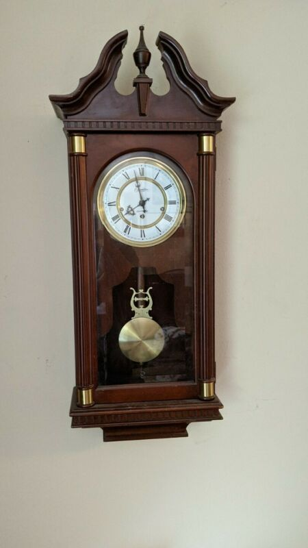 Rare Hamilton Lancaster County Wall Clock Westminster Chimes