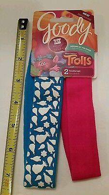 Trolls Girls Headbands Glow In The Dark Headwraps Accessories for Hair by Goody - Glow In The Dark Hair Accessories