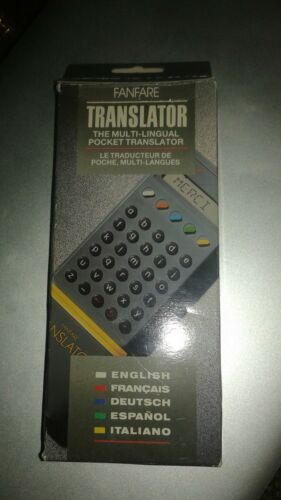 NEW OLD STOCK FANFARE TRANSLATOR ENGLISH FRENCH GERMANY SPANISH ITALIAN