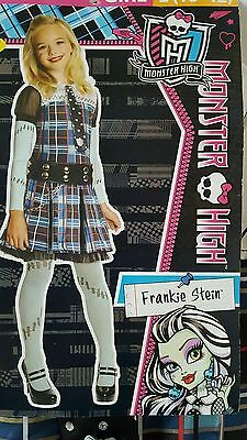 NEW Frankie Stein Dress Up Costume Monster High Doll Lg 10-12 Plaid School Girls](Monster High Zombie Costume)