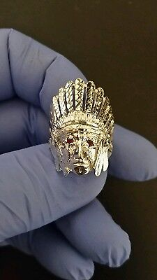 anillo de indio de plata