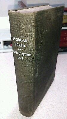 Michigan Board ( MICHIGAN BOARD OF AGRICULTURE BOOK~1898~ FREE SHIPPING)