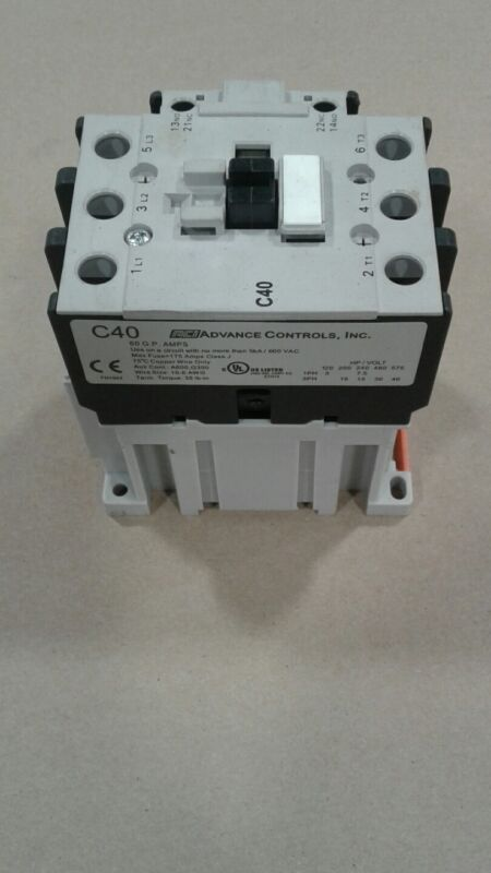 ACI Advance Controls C40 Single Phase AC Coil Reversing Contactor #027B11