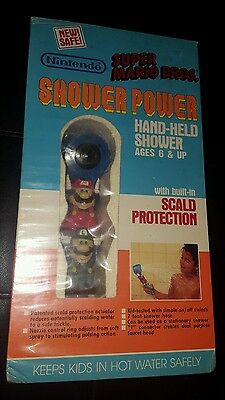 SUPER MARIO BROS. SHOWER POWER HAND-HELD SHOWER NINTENDO