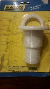 Seachoice 18111 Thru Hull Connector, White, 1-1/2