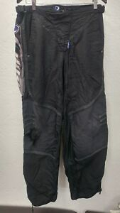 DYE Mens Large Paintball Pants Black Gear Clothing  Adjustable velcro belt