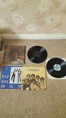 Michael jackson vinyl records mccartney , jackson 5