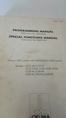 Programming And Special Functions Manual For Okuma Cnc Lathes With Osp5000l-g