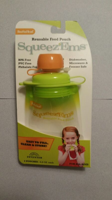 (6 Pack) Snack Pack Refillable Baby Food Pouch - Reusable Squeeze Pouch BPA Free