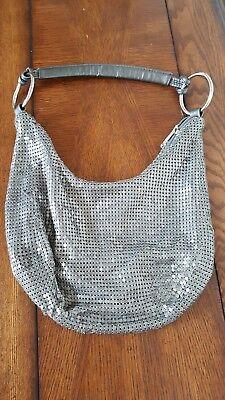 Vintage Mesh Purse Handbag- Gray/Silver