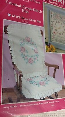 MARY MAXIM THE IDEA PLACE CRAFT 57129 ROSE CHAIR SET TWO PIECE  new opened - Place Settings Ideas
