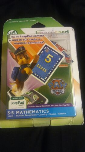 NEW LeapFrog IMAGICARD PAW PATROL LEARNING GAME MATH  3-5 Ye