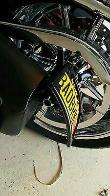 Vertical Harley Motorcycle License plate bracket w/ 12 degree radius curve AF2D