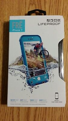 Apple iPhone 7 Lifeproof Fre Phone Case Turquoise Blue Same Day Shipping