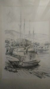 Jas F. Murray Signed Nautical Print