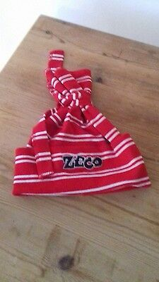childs unisex zeco red and white hat age 3