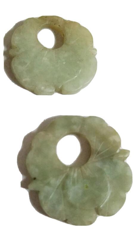 Guatemala Antique Jade Earrings Ethnic Green Small