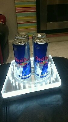 RED BULL REVOLVING LED ILLUMINATED CAN BAR DISPLAY HOME PUB/BAR/MANCAVE