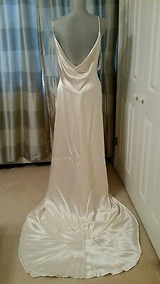 Bianchi Vintage Ivory Wedding Formal Prom Gown with Train, Size 10, with Tags