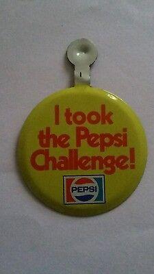 Pepsi Soda Pop I took the Pepsi Challenge! Pin Pinback Button Vintage Advertisin