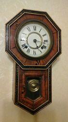Vintage Japanese SEIKOSHA pendulum 8 day  wall clock about 100 year's old.