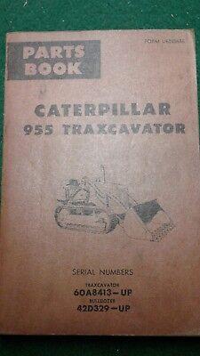 Caterpillar 955 Traxcavator Track Loader Parts Book Sn 60a8413-up 42d329-up