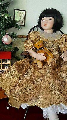 """PAULINE  Bjonness Jacobsen doll porcelain Nicola Huisan  22"""" artist signed"""