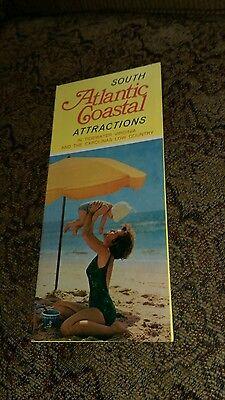 73 South Atlantic Coastal Attractions Tidewater Virginia Carolinas Map Brochure