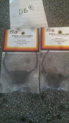 set of 2 atc/ato fuse holder 16awg 10 amp