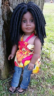 SALE! OOAK Custom Doll Wig for American Girl dolls in The Michonne