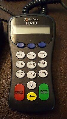 First Data Fd 10 Atm Credit Debit Card Pin Pad Mdl 8001