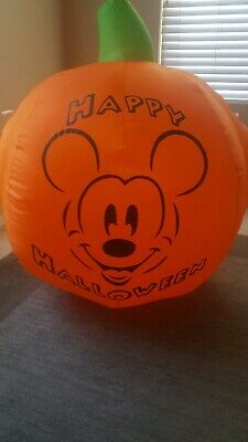 Disney Mickey Mouse Happy Halloween Pumpkin Airblown Inflatable Yard Blowup